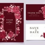 Thiệp hoa hồng đỏ thắm vector 1