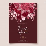 Thiệp hoa hồng đỏ thắm vector 2