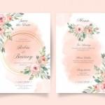 Thiệp mời cưới hoa vector 11