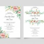 Vector thiệp mời cưới hoa hồng 1
