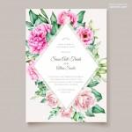 Vector thiệp mời cưới hoa hồng 2