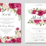 Vector thiệp mời cưới hoa hồng 3
