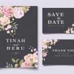 Vector thiệp mời cưới hoa hồng 4