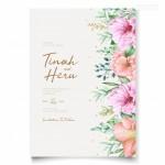 Vector thiệp cưới viền hoa