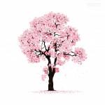 Vector cây hoa đào cổ thụ