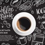 Vector hình nền trang trí cà phê