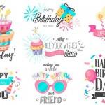 Vector chữ trang trí sinh nhật