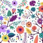 Vector nền hoa rực rỡ