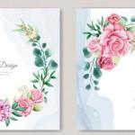 Vector thiệp hoa cưới đẹp #2