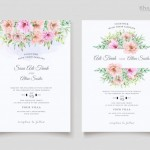 Vector thiệp hoa cưới đẹp #3