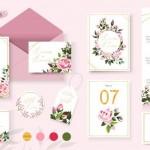 Vector thiệp hoa cưới đẹp #4