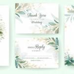 Vector thiệp hoa cưới đẹp #7