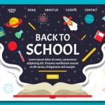 Vector trang chủ giáo dục 9