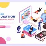 Vector trang chủ giáo dục 10