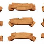 Vector ruy băng gỗ nâu