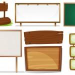 Bảng gỗ trang trí Vector