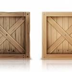 Thùng gỗ đóng hình vuông Vector