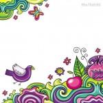 Vector hình nền chim màu