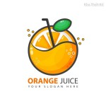 Logo quả cam nước ép Vector 1