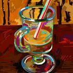 Tranh sơn dầu cái cốc Vector