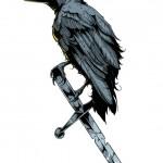 Vector con quạ và cây kiếm #6