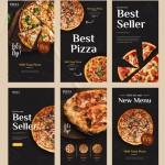 Thực Đơn Pizza Quảng Cáo Trên Mạng Xã Hội Instagram Story Banner Mẫu Vector