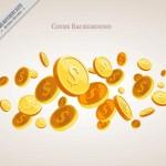 Tiền Nền Với Một Số Tiền Vàng Vector