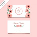 Name Card Khái Niệm Với Hoa Vector