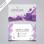 Name Card Hình Học Tông Màu Tím Vector
