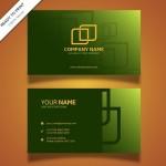 Name Card Xanh Với Các Hình Thức Vàng Trừu Tượng Vector