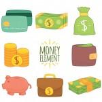 Tập Hợp Các Yếu Tố Tiền Bằng Tay Vector