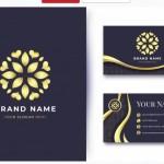 Mẫu Name Card Vàng Logo Sang Trọng Vector