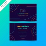 Mẫu Name Card Neon Vector