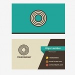 Name Card Retro Với Chữ O Vector