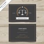 Pháp Luật Và Công Lý Mẫu Name Card Vector