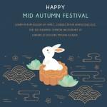Lễ Hội Chuseok Hangawi Tết Trung Thu Với Thỏ Và Các Yếu Tố Trừu Tượng Vector