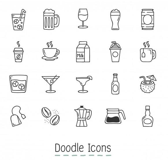 Free-vector-000266-doodle-bieu-tuong-do-uong