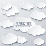 Bầu Trời Với Mây Nền Kết Cấu Giấy Vector