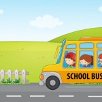 Trẻ Em Đi Xe Buýt Trường Học Vector