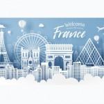 Cắt Giấy Về Địa Danh Nước Pháp, Du Lịch Và Ý Tưởng Du Lịch Vector
