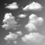 Đám Mây Trong Suốt Thiết Lập Vector