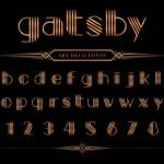 Thiết Kế Của Phông Chữ Gatsby Và Số, Tải Vector