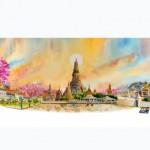 Toàn Cảnh Các Địa Danh Nổi Tiếng Bangkok Và Chiang Mai Ở Thái Lan, Tải Vector