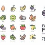 Thức Ăn Và Trái Cây Biểu Tượng Vector, Tải Vector