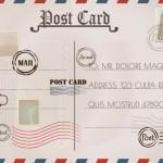 Thiết Kế Và Tem Bưu Thiếp Cổ Điển Vector