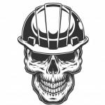 Đầu Lâu Trong Mũ Bảo Hiểm Của Thợ Mỏ Vector
