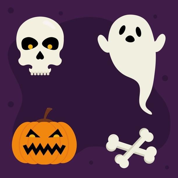 free-000845-halloween-bi-ngo-xuong-so-va-thiet-ke-ma-chu-de-halloween-vector