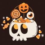 Vẽ Tay Túi Halloween Vector