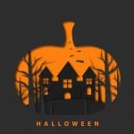 Halloween Vui Vẻ Với Phong Cách Cắt Giấy Vector