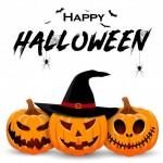 Halloween Banner Thiết Kế Với Nhân Vật Bí Ngô Mỉm Cười Vector